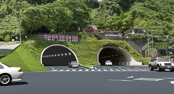 既設への近接及び低土被りトンネル設計